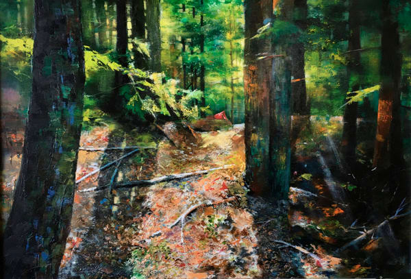 Sunlit Trail Art | MANTHA DESIGN