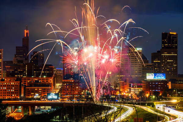 Chs Field Summer Fireworks In Saint Paul Photography Art | William Drew Photography