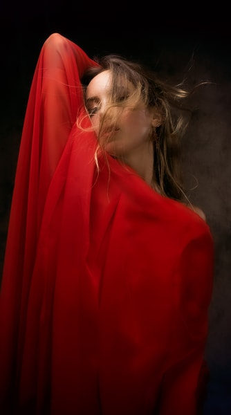 Lady In Red Photography Art | Dan Katz, Inc.