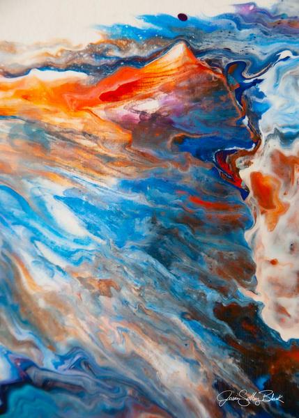 Paint Pour Detail 8613 Art | Black Mountain Gallery