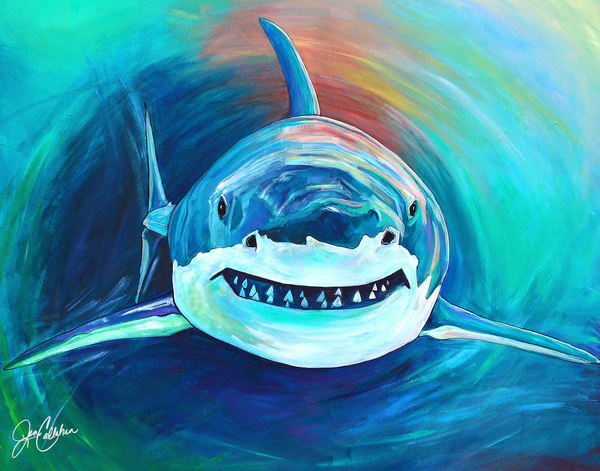 Shark Attack Art | jenartworkgallery