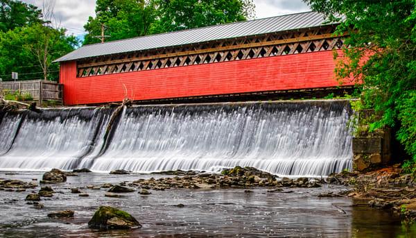 Paper Mill Village Covered Bridge - Vermont fine-art photography prints