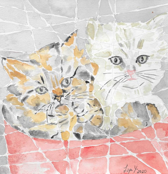 Cats  Watercolor  Print  Art | Anonymous Art Studios