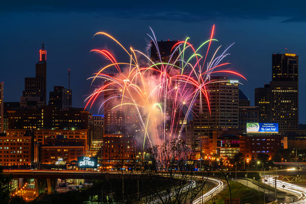 July Fireworks From Chs Field In Saint Paul Photography Art | William Drew Photography