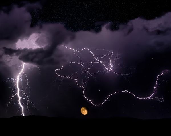 Moon Rise In The Storm Photography Art | Jim Livingston Art