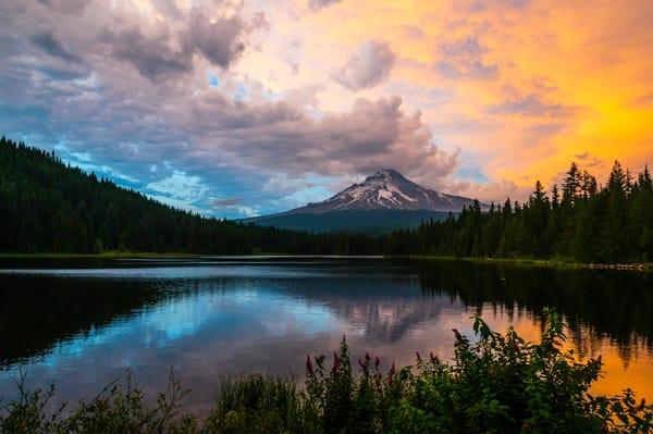 Fire Sky Mt Hood Photography Art | Call of the Mountains Photography