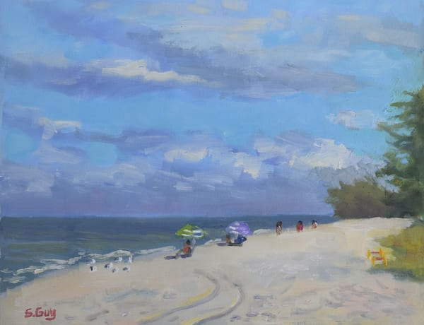 Blind Pass Beach   Original Oil On Paper Art | Sharon Guy