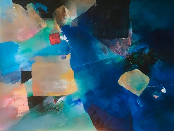 Big Deep Blue  Art   MANTHA DESIGN