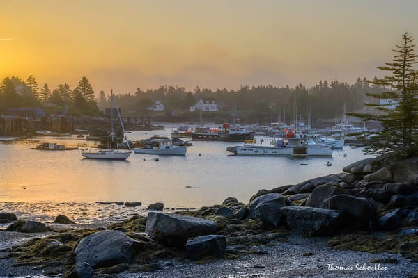 Corea Harbor Maine Fine Art Prints | Beautiful Schoodic Peninsula scenes by Thom Schoeller photographer
