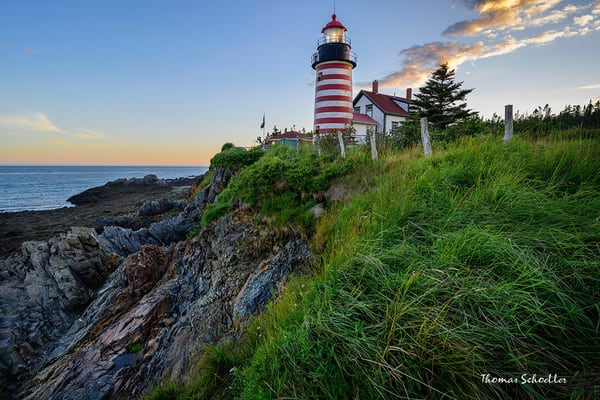 Quoddy Head Lighthouse Fine Art Photography prints | Lubec Maine Easternmost Point by Thom Schoeller