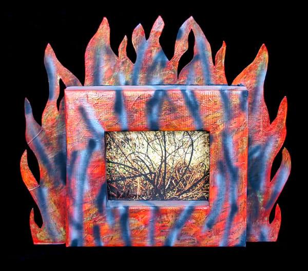 original art devils-broom wildfire-art flames jackie-robbins-studio buy-art-online