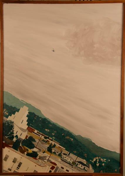 'hollywood Hills Helicopter' Art   Cera Arts