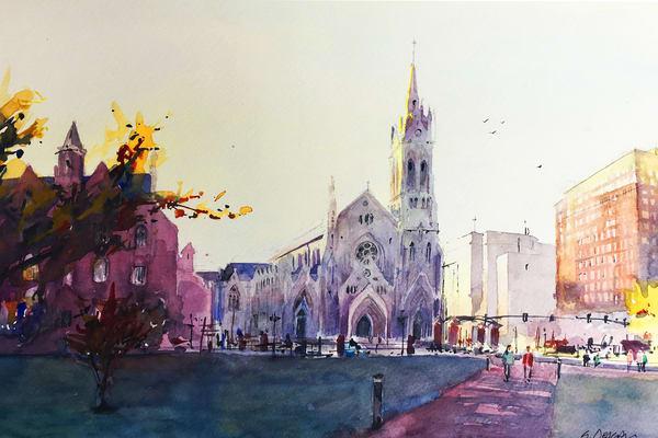 Stl Slu Cathedral Art | Steven Dragan Fine Art