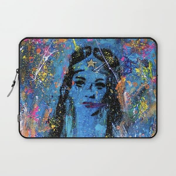 Wonder Woman abstract art laptop sleeve