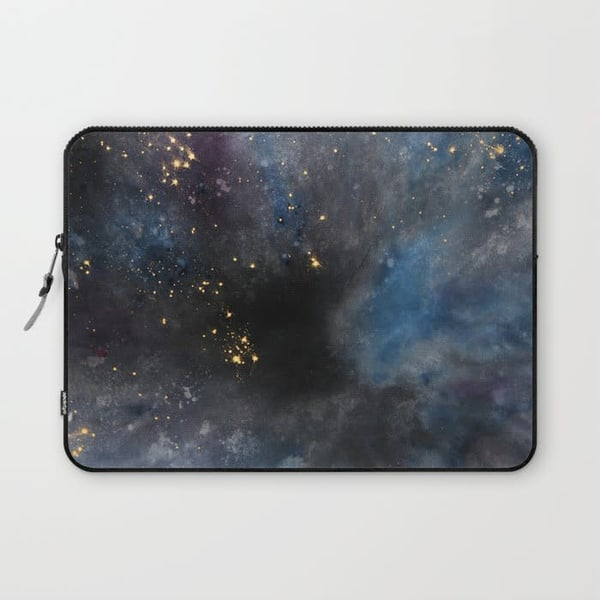 Dyed Cosmoscity   Laptop Sleeve | Chuck Redick Art
