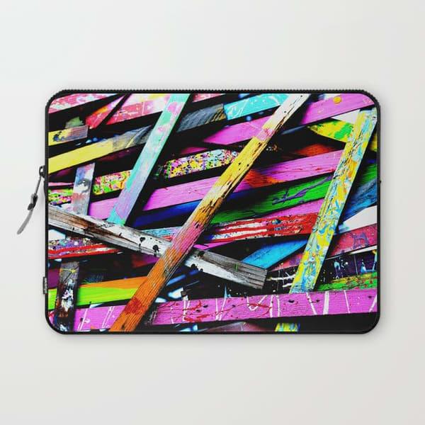 funneled creativity houston street art laptop sleeve