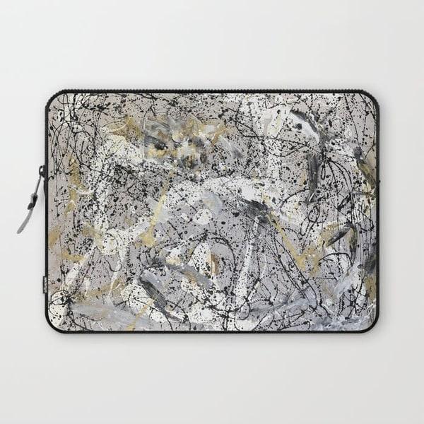 hopeful isolation abstract art laptop sleeve