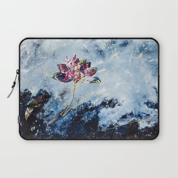 Kintsugi Lotus art laptop sleeve