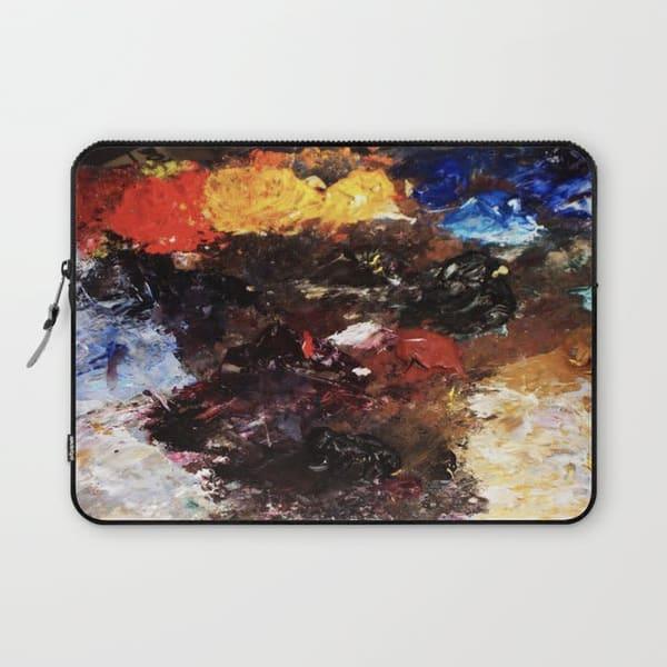 parisian palette paint laptop sleeve