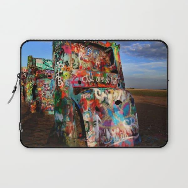 cadillac graffiti laptop sleeve