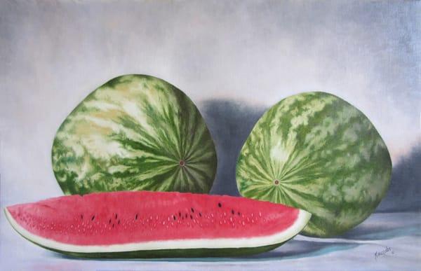 Watermelon   Original Art | Mercedes Fine Art