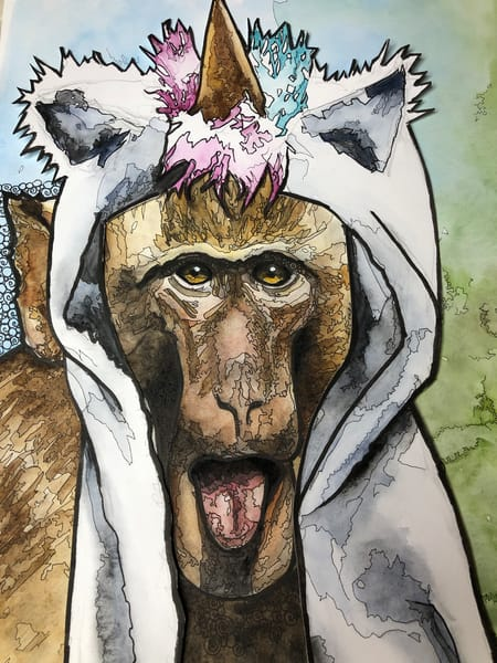 Rhesus Unicorn Art | Water+Ink Studios