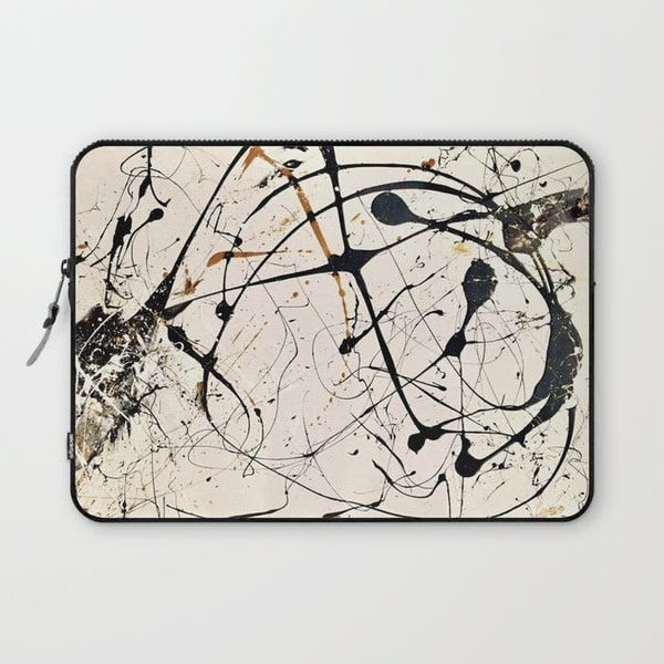 abstract paint laptop sleeve