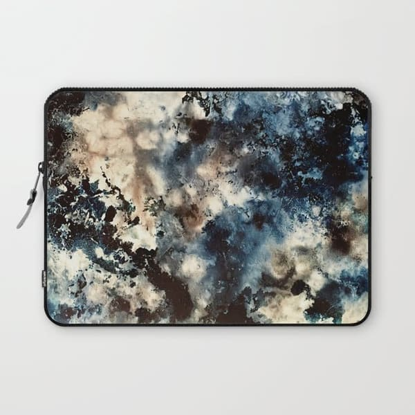 stained with serenity art laptop sleeve