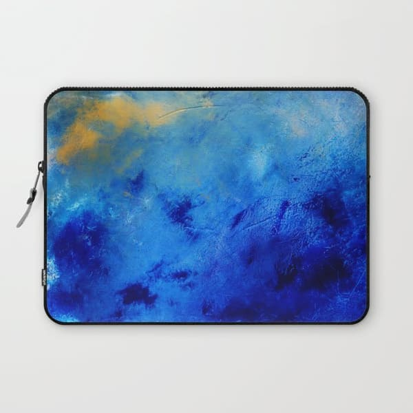 the value of peace blue art laptop sleeve
