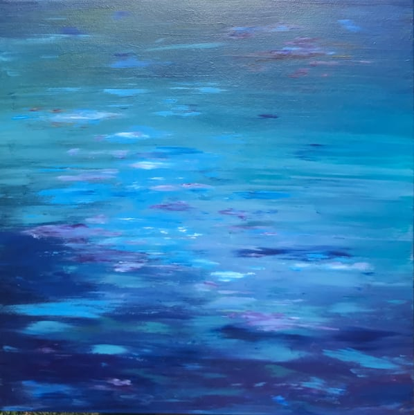 Original painting of ocean, Portland, Maine