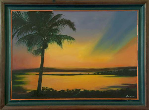 Santa Marta,2005,32,40in.Oil On Canvas Art   artecolombianobyberenice