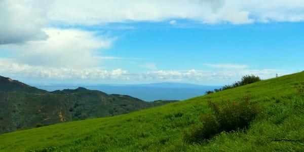 canyon view santa monica bay perfect day landscape photographic print jackie robbins studio summer sale