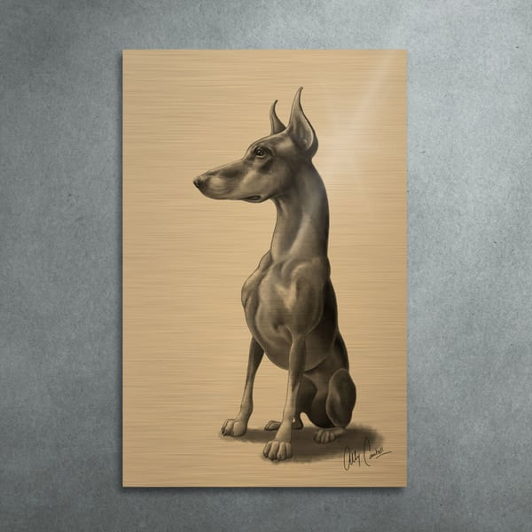 The Knight (Gold Finish) Art | BunnyPigs