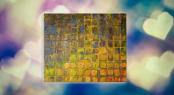 A Beautiful Eclectic Painting - All Boxed In