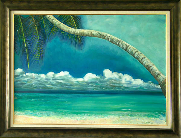 Cartagena,2003,Oil On Canvas,34x49in   artecolombianobyberenice