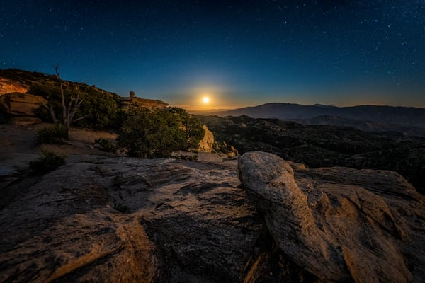 Moonrise From Windy Point Photography Art | Carol Brooks Parker Fine Art Photography