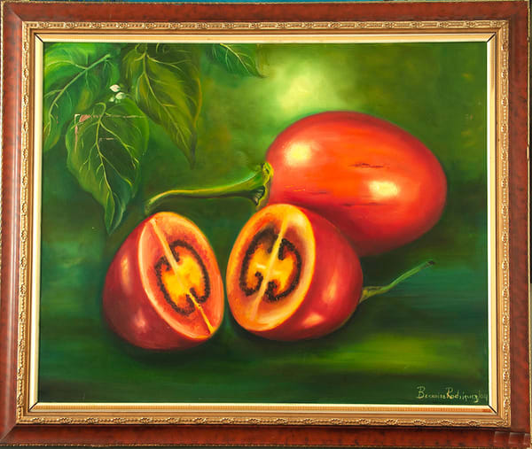 Tomatoes,2006,Oil On Canvas,32.5x40in   artecolombianobyberenice