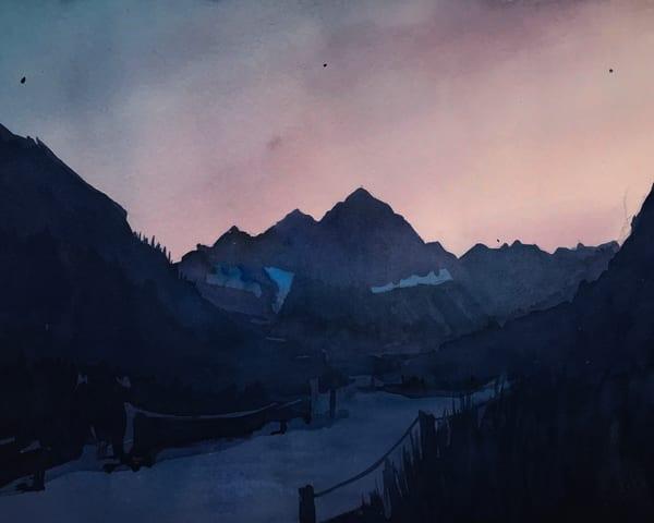 Mt Aspen Maroon Bells Dusk Art | Steven Dragan Fine Art