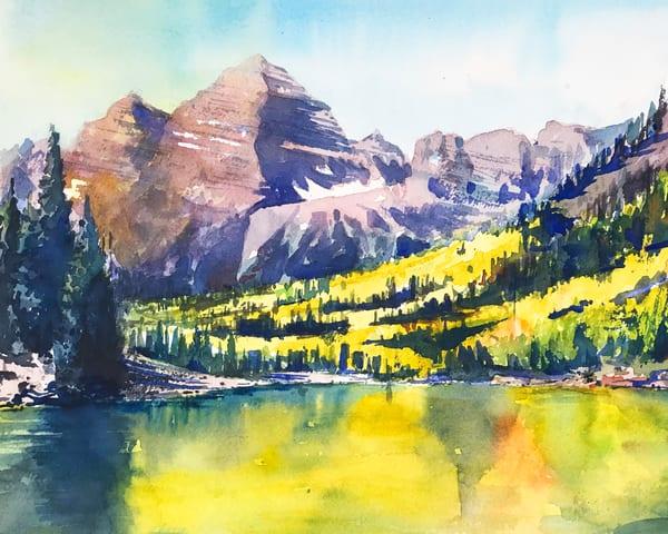 Mt Aspen Maroon Bells Fall Day Art   Steven Dragan Fine Art