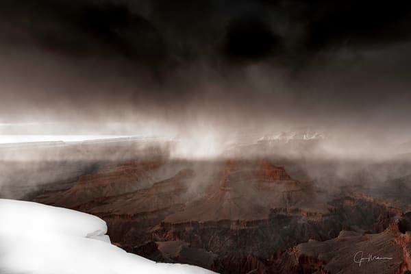 Snow, storm, Grand Canyon, sunset, snowstorm, durning sunset