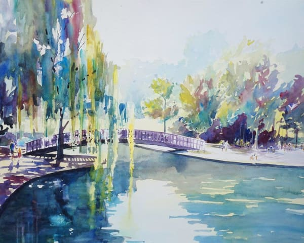 Kc Loose Park 3   Limited Edition Signed Print   22x16 Art   Steven Dragan Fine Art