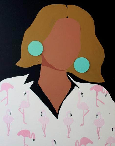 Fancy Flamingo Art | Meredith Steele Art