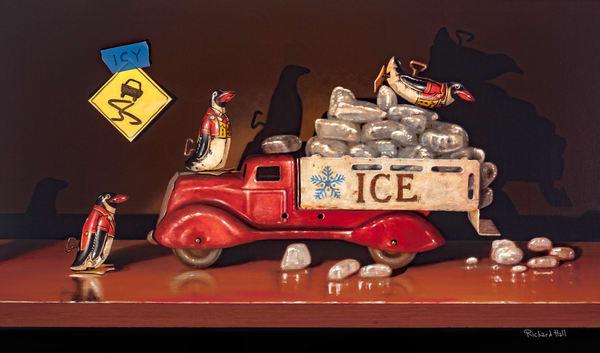 Icy Conditions Art | Richard Hall Fine Art