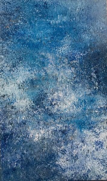 Blueberry Attitude, Large Original Finger Painting