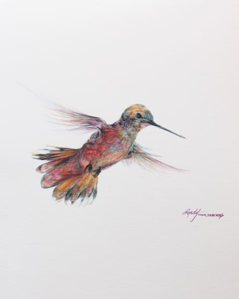 Lindy Cook Severns Art | In a Whirr of Joy, print