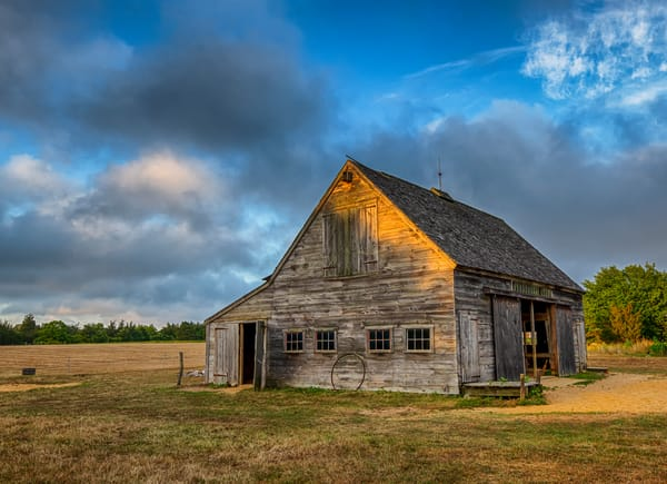 West Tisbury Old Barn Sunset Art | Michael Blanchard Inspirational Photography - Crossroads Gallery