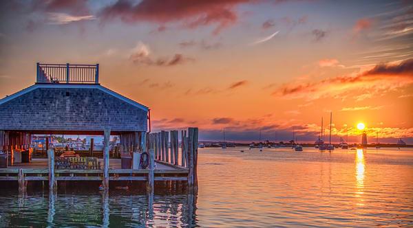 Memorial Wharf Sunrise Art | Michael Blanchard Inspirational Photography - Crossroads Gallery