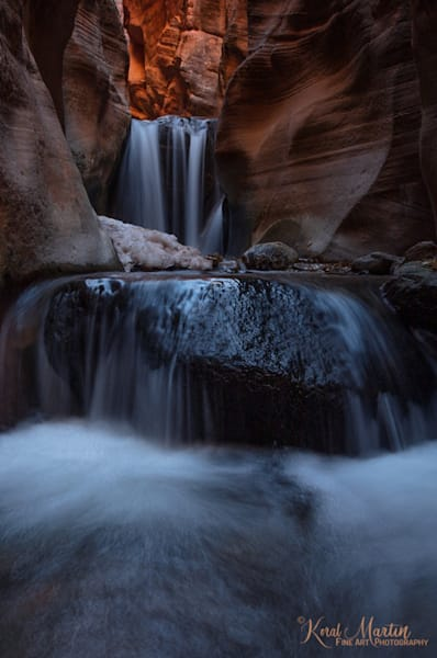 Kanarraville Slot Canyon Upper Falls 3048  Photography Art | Koral Martin Healthcare Art