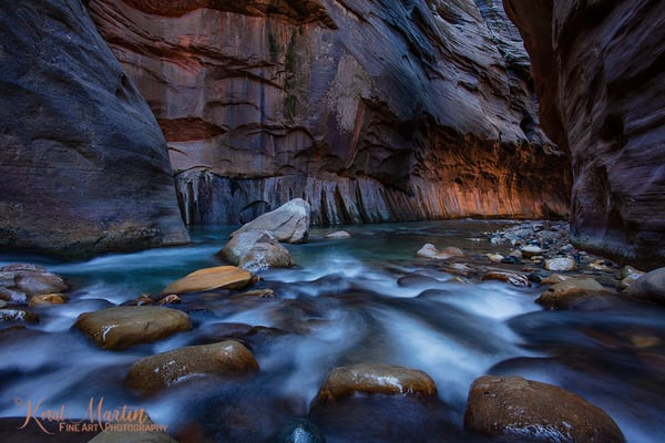 Narrows Flow Lit Wall 2926  Photography Art | Koral Martin Healthcare Art