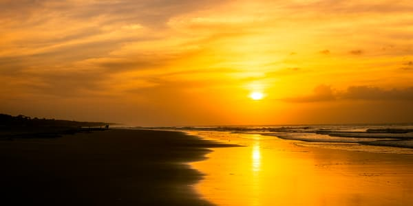 Beach Sunrise with Sun Reflection